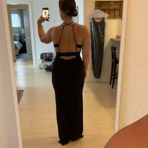 NASTY GAL Black Strappy Dress